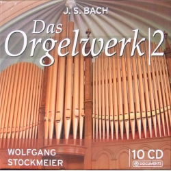 Bach: Orgelværker vol. 2. Wolfgang Stockmeier. 10 cd. Box set