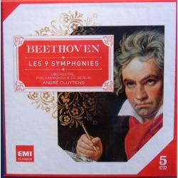 Beethoven: Symfoni nr. 1-9. André Cluytens, Berlin PO. 5 cd. EMI