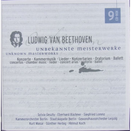 Beethoven: Unknown Masterworks. 9 cd. Edel