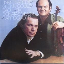 Bach: Six Sonatas for violin & Harpsichord. Glenn Gould, James Laredo. 2 cd. Sony
