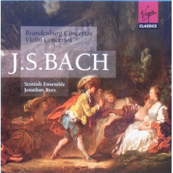 Bach: Brandenburg-koncert nr. 1-6. J. Rees, Scottish Ensemble. 2 CD. Virgin