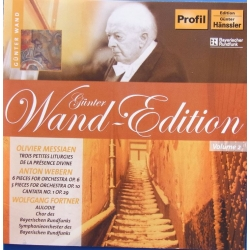 Messiaen, Webern, Fortner: Orchestral Works. Gunter Wand, 1 CD. Hanssler