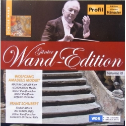 Schubert: Stabat Mater & Mozart: Mass in C. Gunter Wand. SWR. SO. 1 cd. Hänssler