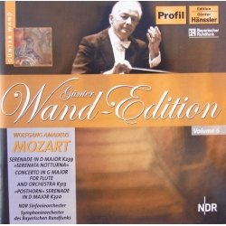 Mozart: Koncert for fløjte. + Posthorn serenaden. Gunter Wand, SWR SO. 1 cd. Hänssler