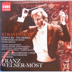 Stravinsky: Oedipus Rex & The Firebird. Blæsersymfoni. Welser-Most. 2 cd. EMI