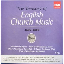The Treasury of English Church Music. (1100-1965). 5 cd. EMI