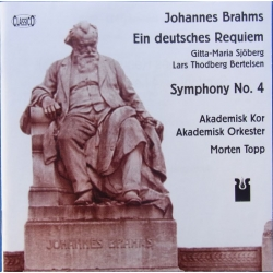 Johannes Brahms: A German Requiem. Akademisk Choir & orchestra. Morten Topp. 2 CD Classico. New Copy