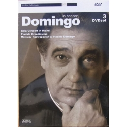 Domingo Gala Concert in Miami. 3 DVD. Amado