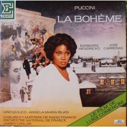 Puccini: la Boheme. Hendricks, Carreras. Colon. 2 LP. Erato