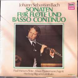 Bach: Sonatas for flute and continuo. Meisen, Thunemann, Bilgram. 1 LP. Europa