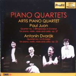 Antonin Dvorak & Paul Juon: Klaverkvartet, Artis Piano Quartet. 1 CD. Hanssler PH 07013