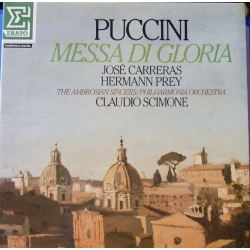 Puccini: Messa di Gloria. Jose Carreras, Hermann Prey. Claudio Scimone. 1 LP. Erato