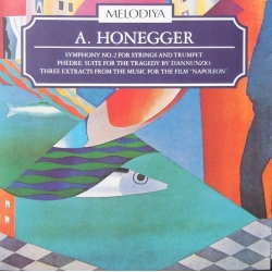 Honegger: Symfoni nr. 2 for strygere og trompet. USSR SO. Rozhdestvensky. 1 CD. Melodiya