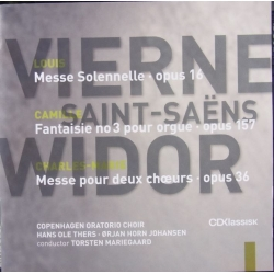 Vierne - Widor: Messer. Copenhagen Oratorio Choir. 1 cd. CDK 1022