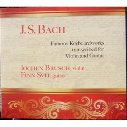 Bach: Famous Keyboard works transcribed to violin and guitar. Brusch, Svit. 1 CD. CDK 1027
