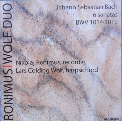 Bach: 6 Sonater for blokfløjte. Nikolai Ronimus. 2 cd. CDK 1080