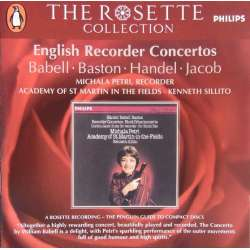 Michala Petri: English Recorder Concertos by Babell, Händel, Baston. 1 CD. Philips.