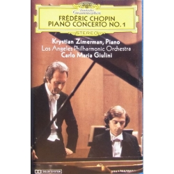 Chopin: Klaverkoncert nr. 1. Zimerman, Giulini. Los Angeles PO. 1 MC-Tape. DG