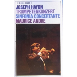 Haydn: Trompetkoncert. & Sinfonia Concertante. Maurice Andre. 1 Music Cassette. EMI