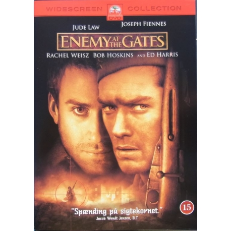 Enemy at the Gates. Jude Law, Joseph Fiennes, Bob Hoskins, Ed Harris. 1 DVD