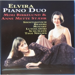 Værker for 2 klaverer. Shostakovich Op. 94 + Brahms Op. 39, + Lutoslawski Variations. Elvira Piano Duo. 1 CD Classico. CD 141