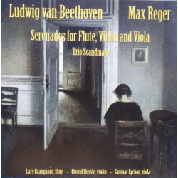 Beethoven & Reger: Serenade for flute, violin and Viola. Trio Scandinavo. 1 CD. AMC