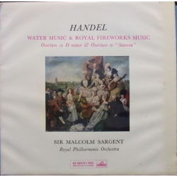 Handel Water Music - Royal Fireworks music, Malcolm Sargent. 1 LP EMI. ALP 1710