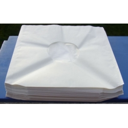 100 New LP inner sleeves. Antistatic White paper with plasticfolie. 100 pcs.