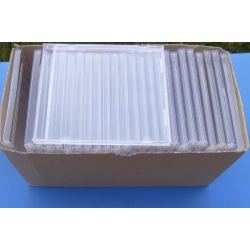 CD Plastic box to one CD. Clear plastic. 25 pcs.