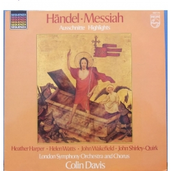 Handel: Messiah in highlights. Colin Davis. Harper, Watts. 1 LP. Philips