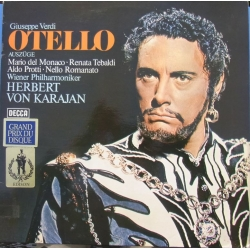 Verdi: Otello in highlights. del Monaco, Tebaldi. Karajan. 1 LP. Decca