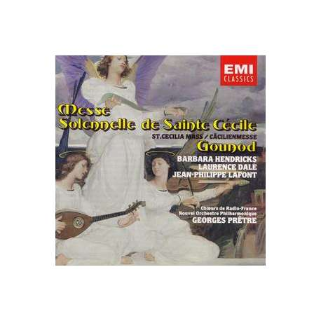 Gounod: Sct. Ceciliamessen. Barbara Hendricks, Laurence Dale, Nouvel Orchestra Philharmonique & Choir, George Pretré, 1 CD. EMI