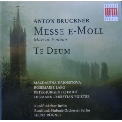 Bruckner: Mass in E-minor + Te Deum. Heinz Rögner, RSO Berlin. 1 CD. Berlin Classics
