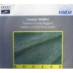 Mahler: Symfoni nr. 5 & 9. Pierre Boulez, BBC SO. 2 CD. Arkadia