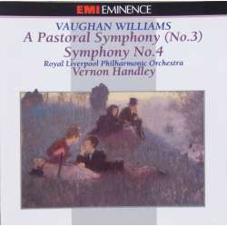 Vaughan Williams: Symfoni nr. 3 & 4. Vernon Handley, Royal Liverpool Philharmonic Orchestra. 1 CD. EMI
