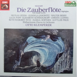 Mozart: The Magic Flute in excerpts. Nicolai Gedda, Elisabeth Schwarzkopf. Otto Klemperer. 1 LP. EMI