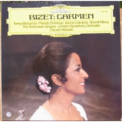 Bizet: Carmen in highlights. Claudio Abbado. Teresa Berganza, Placido Domingo, Sherrill Milnes. 1 LP. DG. 2537049