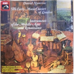 Instruments of the Middle ages and Renaissance. David Munrow. 2 LP. EMI. SLS 988