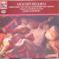 Mozart: Requiem. Barenboim, Battle, Murray, Rendall, Salminen. 1 LP. EMI