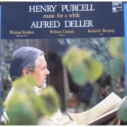 Henry Purcell: Music for a while. Alfred Deller. 1 LP. Fransk Harmonia Mundi LP 249