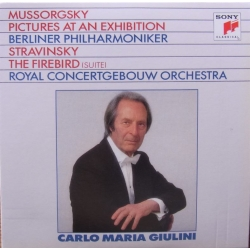 Mussorgsky: Pictures at an Exhibition & Stravinsky: The Firebird suite. Carlo Maria Giulini, Concertgebouw. 1 CD. Sony