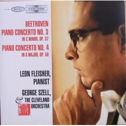 Beethoven: Piano Concertos nos. 3 & 4. Leon Fleisher (piano), The Cleveland Orchestra, Georg Szell. 1 CD. Sony
