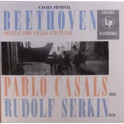 Beethoven: Cellosonate nr. 1, 2 & 4. Pablo Casals, Rudolf Serkin. 1 CD. Sony