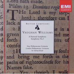 Vaughan Williams: Symfoni nr. 3 & 5. Sir Adrian Boult, London Philharmonic Orchestra. 1 CD. EMI.