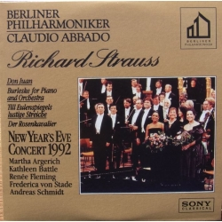 New Years eve Concert 1992. Richard Strauss. Claudio Abbado, Berliner Philharmoniker. 1 CD. Sony