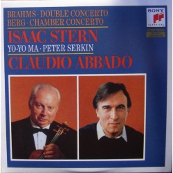 Brahms Double Concerto & Berg Chamber Concerto. Isaac Stern, Yo-Yo Ma, Peter Serkin, Chicago SO, Claudio Abbado. 1 CD. SonyDoubl