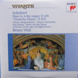 Schubert: Mass in A-Flat major D 678 + Deutsche messe. D 872. Bruno Weil. 1 CD. Sony Vivarte