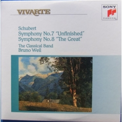 Schubert: Symfoni nr. 7 og 8. Bruno Weil, The Classical Band. 1 CD. Sony Vivarte