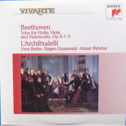 Beethoven: Trio for violin, Viola and cello. Op. 9. L'Archibudelli. 1 CD. Sony Vivarte