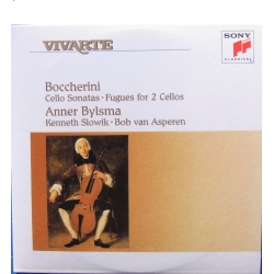 Boccherini: Cellosonater + Fugaer for 2 cellos. Anner Bylsman, Kenneth Slowik, Bob van Asperen. 1 CD. Sony Vivarte